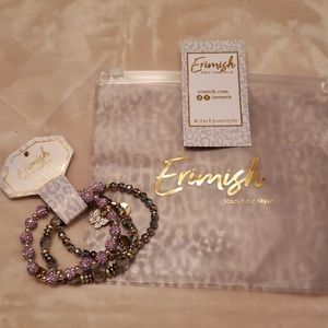 NWT Erimish Stackable Stretchable Bracalets